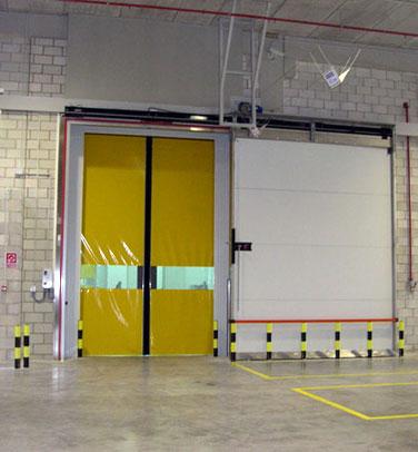 Porte coulissante isotherme coupe feu m2p m3p ei 60 for Porte ei2 60
